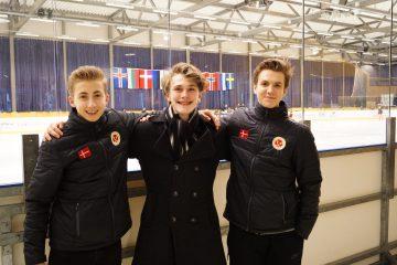 Nikolaj M. Pedersen, LInus Colmor Jepsen og Daniel Tsion. Foto: Arne Jepsen