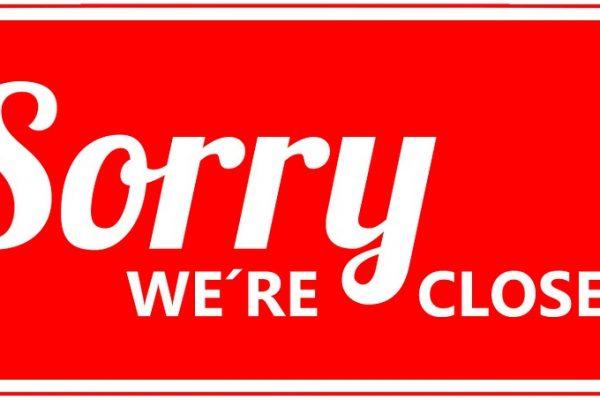 Kontoret er lukket