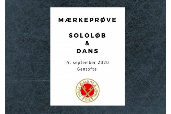 Mærkeprøve for Sololøb & Dans
